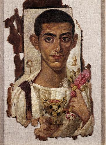 Fayum portrait of Ammonius from Antinoe by Egyptian Art