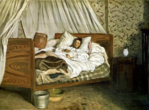 The Painter Monet Wounded at Chailly-en-Biere 1865 by Jean Frederic Bazille