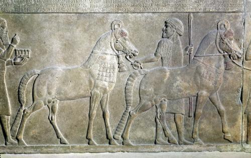 Relief depicting the tributaries of Sargon II by Assyrian Art