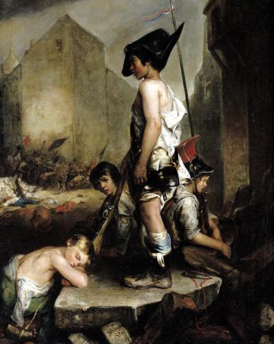 The Little Patriots 1830 by Philippe Auguste Jeanron