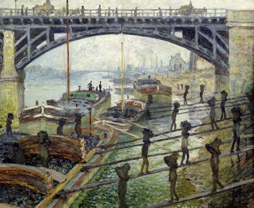 The Coal Workers 1875 by Claude Monet