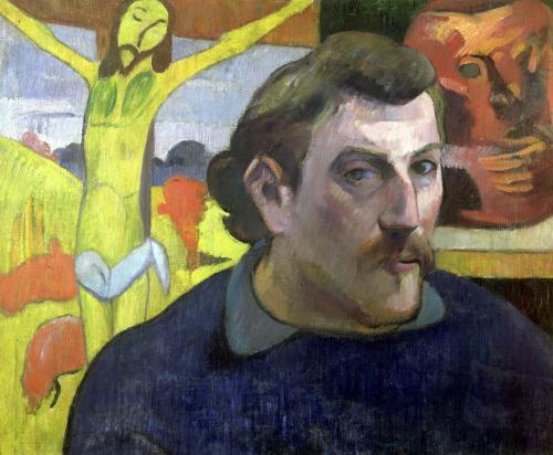 Self Portrait with the Yellow Christ 1889 by Paul Gauguin