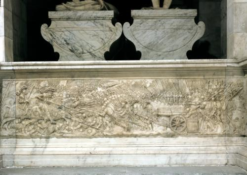 The Battle of Marignano in 1515 from the tomb of Francois I by Pierre Bontemps