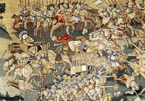 The Battle of Jarnac and the Assassination of Louis I 1570 by French School