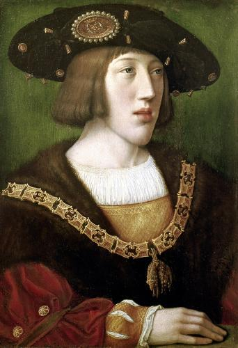 Portrait of Charles V 1516 by Bernart van Orley