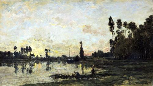 Sunset on the Oise 1865 by Charles Francois Daubigry