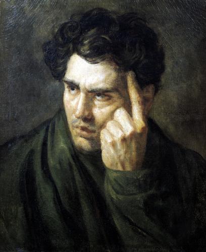 Portrait of Lord Byron by Jean-Louis-André-Théodore Géricault