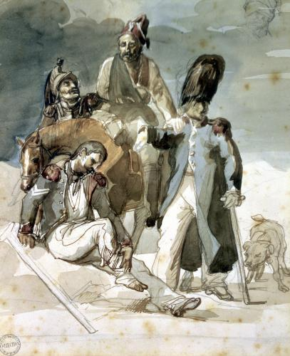Episode from Napoleon's Retreat from Russia in 1812 by Jean-Louis-André-Théodore Géricault