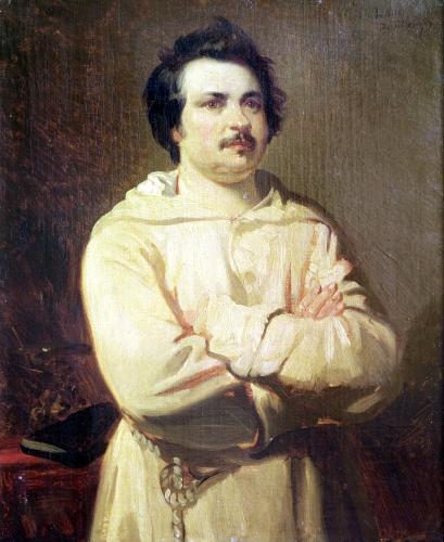 Honore de Balzac in his Monk's Habit 1829 by Louis Boulanger