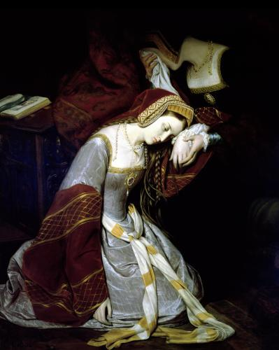 Anne Boleyn in the Tower (Detail) by Edouard Francois Berthelemy Michel Cibot