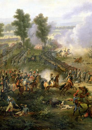 The Battle of Marengo detail of Napoleon and his Major 1801 by Louis Lejeune
