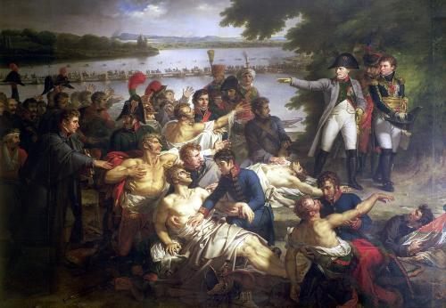 Return of Napoleon to the Island of Lobau after the Battle of Essling by Charles Meynier
