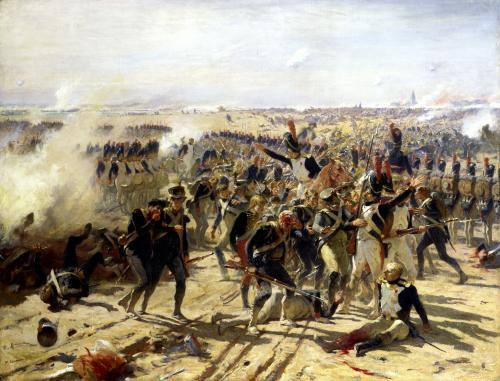 The Battle of Essling May 1809 by Fernand Cormon