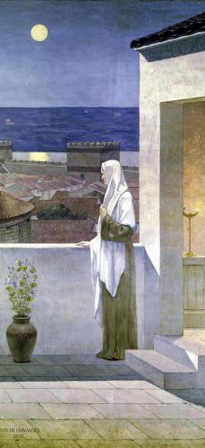 St. Genevieve Watches Over the Sleeping City of Paris 1898 by Pierre Puvis de Chavannes
