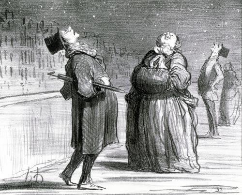 Parisians Waiting for the Famous Comet 1857 by Honoré-Victorin Daumier