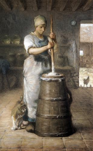 Churning Butter 1866 by Jean Francois Millet