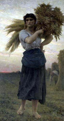 The Gleaner 1877 by Jules Adolphe Breton