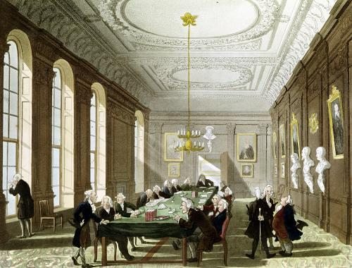 The College of Physicians by T. Rowlandson & A. C. Pugin