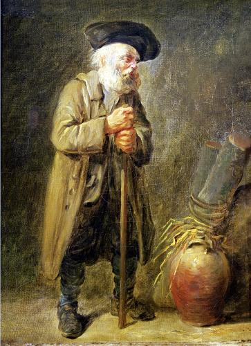 The Old Beggar by French School