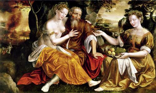 Lot and his Daughters c.1565 by Jan Massys