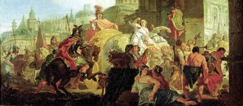 The Entrance of Alexander the Great into Babylon by Francesco Fontebasso