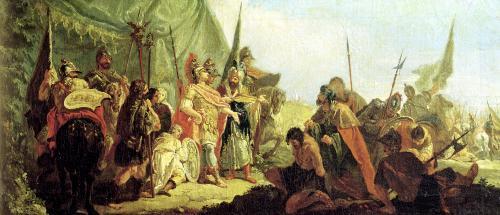 Alexander the Great and Porus by Francesco Fontebasso