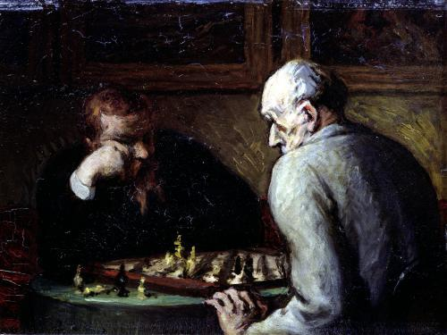 The Chess Players by Honoré-Victorin Daumier