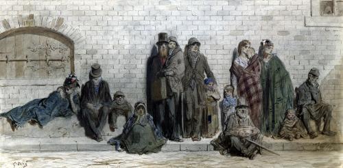 London Street Scene c.1868 by Gustave Dore
