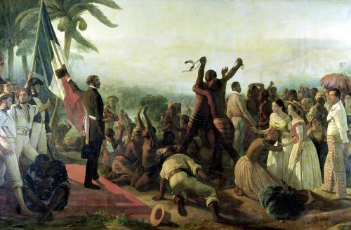 Proclamation of the Abolition of Slavery 1849 by Francois Auguste Biard