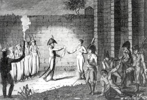 Execution of Louis Antoine Henri de Bourbon Duke of Enghien by French School