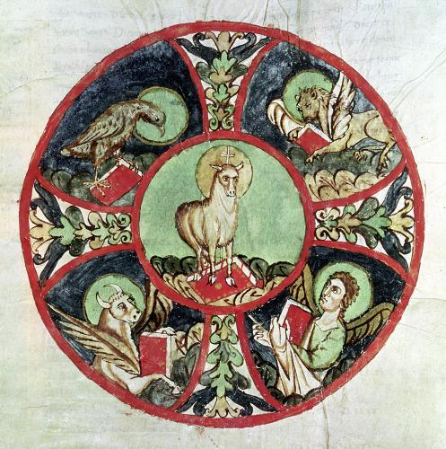 The Lamb of God surrounded by the Symbols of the Evangelists by French School