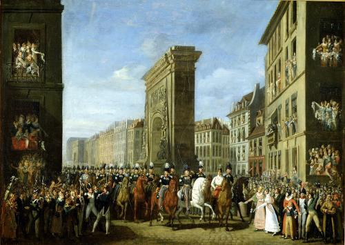 Passage of Allied Sovereigns in Front of the Porte Saint-Denis 1814 by Jean Zippel