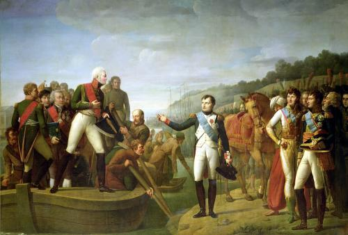 Farewell of Napoleon I and Alexander I after the Peace of Tilsit 1807 by Gioacchino Giuseppe Serangeli