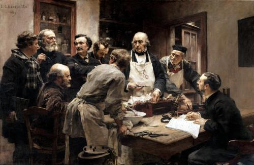 The Lesson of Claude Bernard 1889 by Leon Augustin L'Hermitte