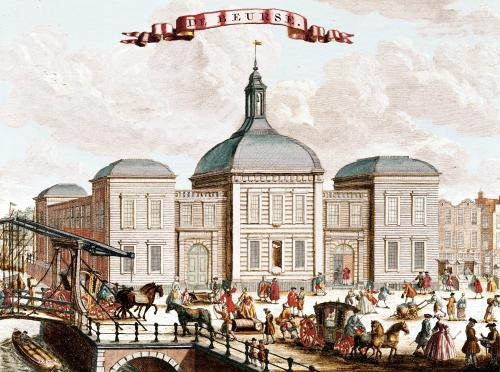 The Stock Exchange Amsterdam 1743 by Francois van Bleyswyck
