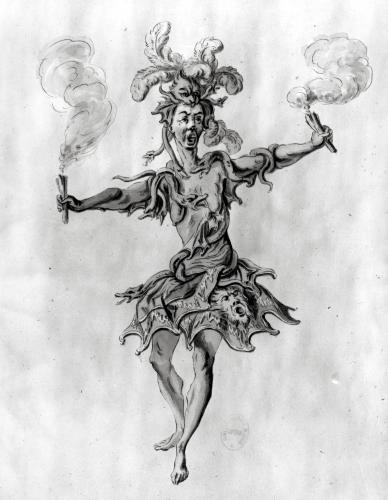 Costume design for the ballet 'Medusa' by Nicolas Boquet