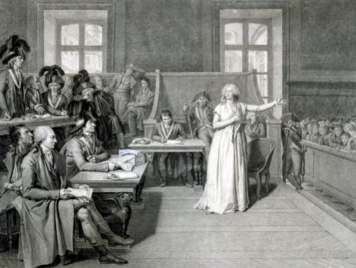 Marie-Antoinette of Habsbourg-Lorraine Judged by the Revolutionary Tribunal Court 1793 by Pierre Bouillon