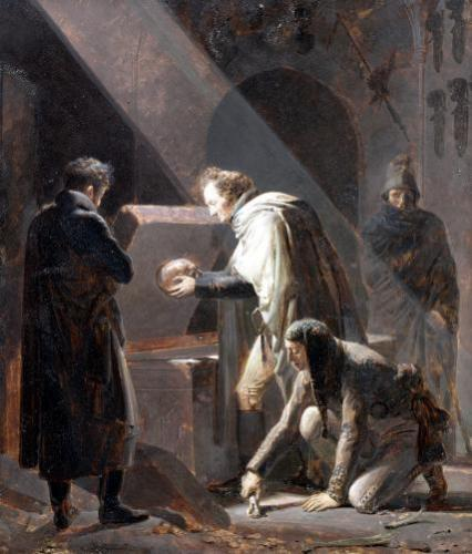 Dominique Vivant Denon Replacing the bones of Le Cid in his Tomb by Alexandre Evariste Fragonard