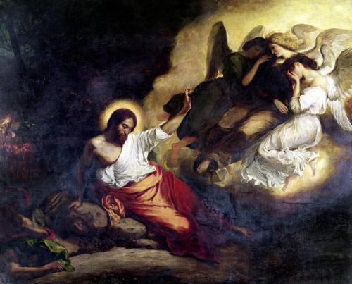Christ in the Garden of Olives 1827 by Ferdinand Victor Eugene Delacroix