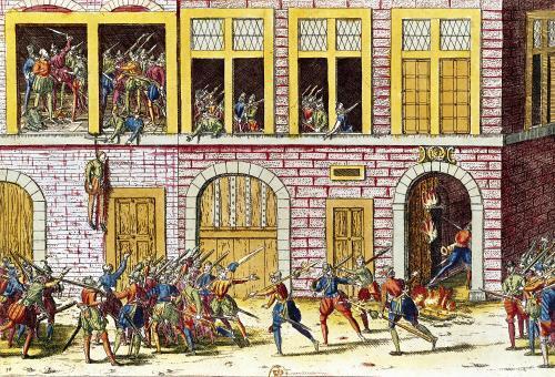 The Hanging of Mottegondrin in April 1562 by Franz Hogenberg