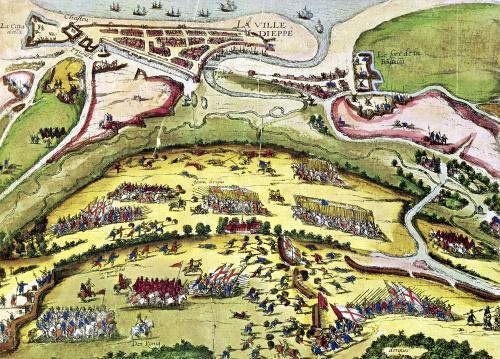 The Siege of Dieppe 1589 by Franz Hogenberg