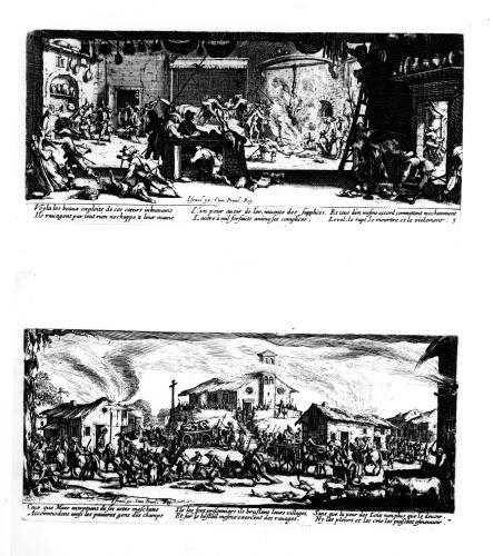 The Pillage of a Farm and The Razing of a Village by Jacques Callot