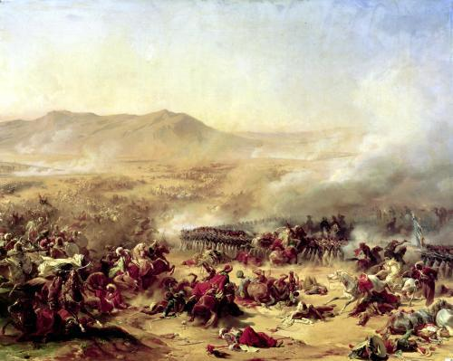 The Battle of Mont Thabor 1799 by Felix Philippoteaux