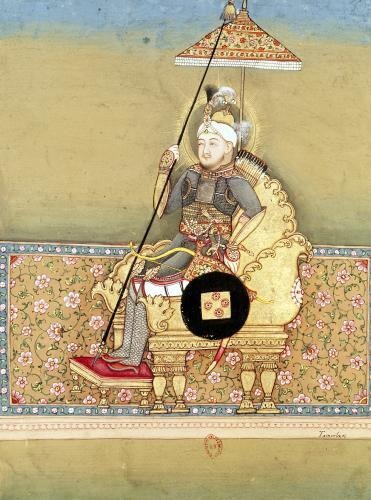 Tamerlane from an album of portraits of Moghul emperors 1774 by Indian School