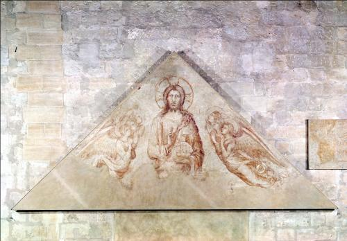 Tympanum depicting Christ the Redemptor 1341 by Simone Martini