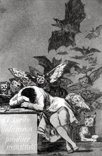 The Sleep of Reason Produces Monsters, from 'Los Caprichos' by Francisco de Goya