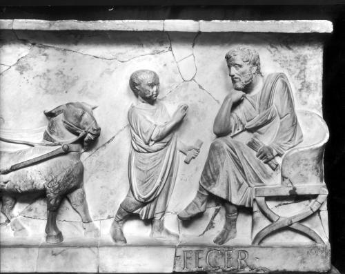 Detail from the sarcophagus of Cornelius Statius by Roman Art