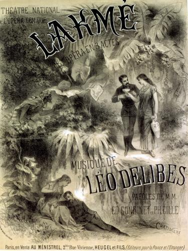 Poster advertising 'Lakme' opera by Leo Delibes by Antonin Marie Chatiniere