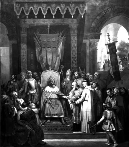 Emperor Charlemagne Surrounded by his Principal Officers by Jean Victor Schnetz
