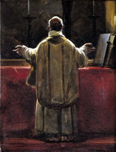 Priest at the Altar by Francois-Marius Granet
